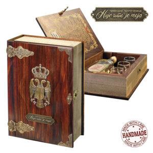 drvena kutija sa rakijom