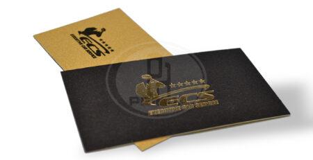 vizit kartice- zlato tisak, suvi zig