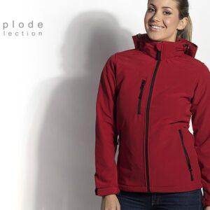 crvena zenska sportska zimska jakna